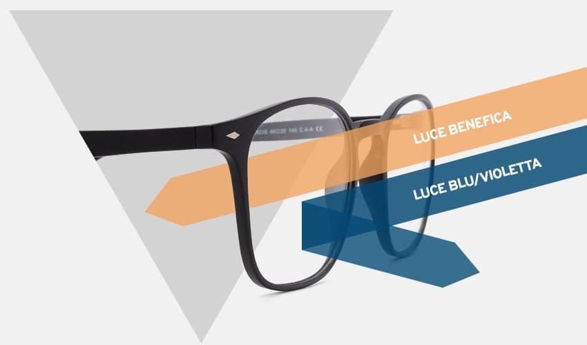 occhiali da gaming e occhiali lice blu